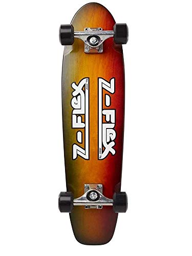 Z-Flex Tri-Ply Rasta Wood Grain Longboard, Unisex, Erwachsene, Mehrfarbig, 29 Zoll