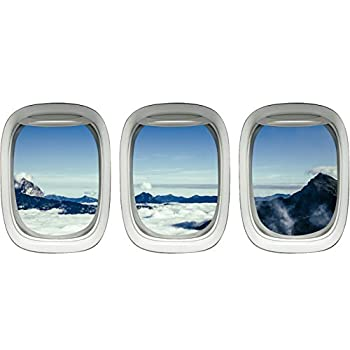 Airplane Window Clings Aviation Decals Stickers Aerial Wall Art VWAQ-PPW15