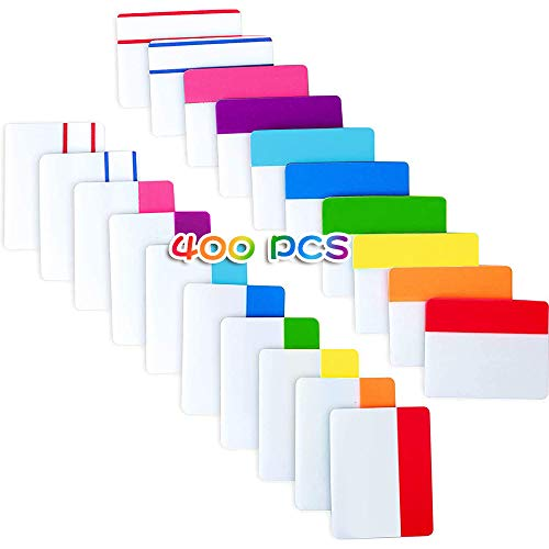 400 Stück Index Tabs - Bunte Haftmarker, Page Marker Haftmarker Transparent Haftnotiz Sticky Notes, Haftmarker Plastik Klebezettel Klein für Seiten(10 Farben)
