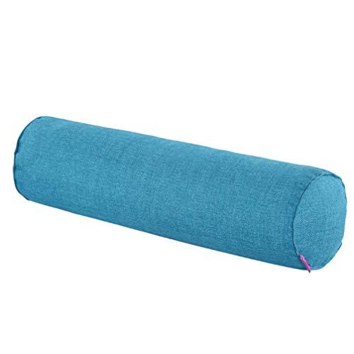 BESPORTBLE Cuscino per Il Collo Cuscino Lungo Cilindro Cuscino per Il Tiro Divano Cuscino per Il Cuscino Cuscino per Dormire Cuscino per Il Collo Cuscino Lavabile 100X20 Cm (Blu Pavone)