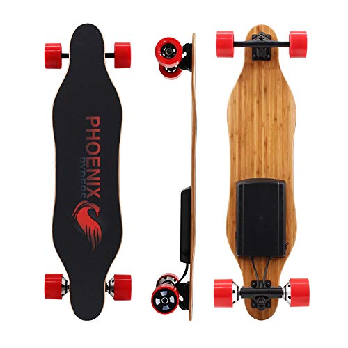 Alouette Phoenix Ryders Electric Skateboard Dual Motors 16 MPH 5.2 AH Lithium Battery Upgraded Electric Longboard with LCD Screen Remote