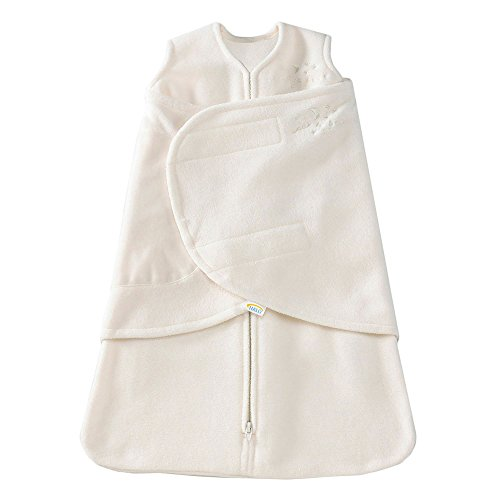 Halo Micro Fleece Sleepsack Swaddle Wearable Blanket, Cream,...