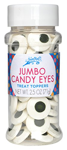 Festival Jumbo Candy Eyes Toppers, 2.5 oz
