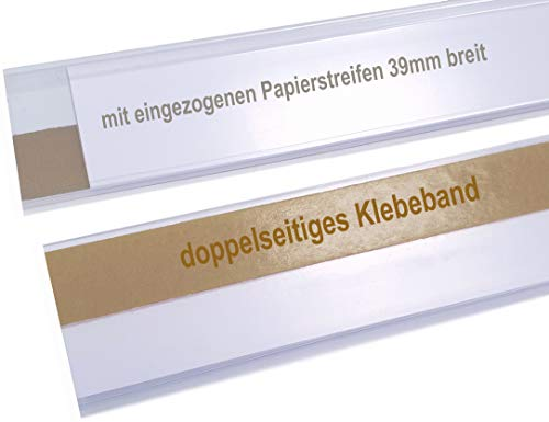 Scannerschiene/Etikettenhalter/Preisschiene/ 39x1000mm - 25 Stück (39 x 1000 mm)