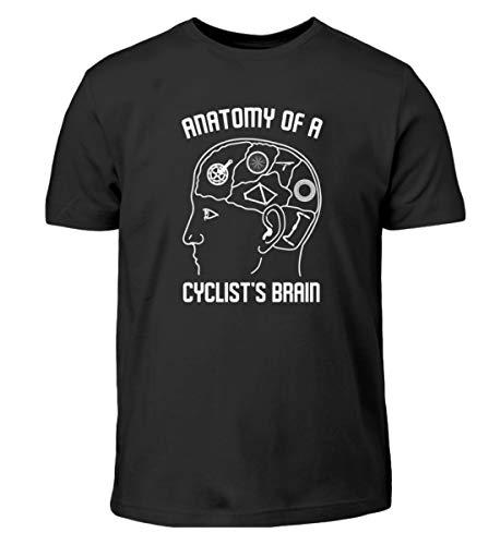 Camiseta infantil con diseño de bicicleta y texto en alemán Negro 152/164 cm