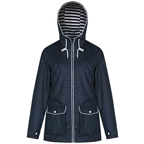 Women's Sun Block Color Fast Drying Waterproof Outdoor Short Coat Stormsuit Navy