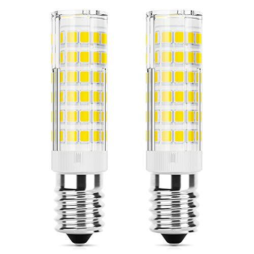 DiCUNO E14 LED Kühlschranklampe 5W, Ersatz für 50W Halogenlampen, 550LM, Kaltweiß 6000K, 220-240V, Maiskolben Led Mais Birne, Nicht Dimmbar, Kühlschranklampe/Nähmaschinen/Dunstabzugshauben, 2P