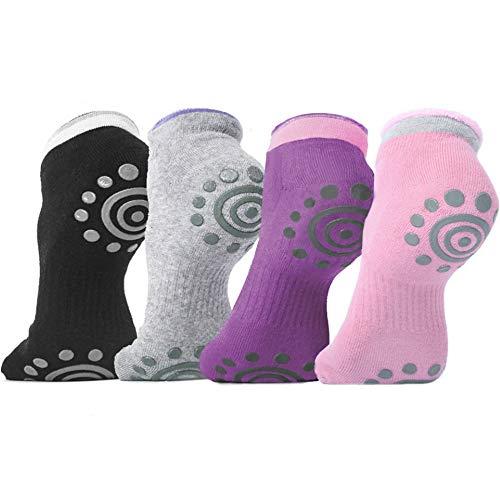 DubeeBaby Yoga Socks, Women's Non Slip Anti-Skid Pilate Grip Socks(SUN SERIES) (4Colors)