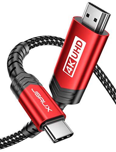 Cable USB C a HDMI 4M JSAUX [4K@60Hz] Duradero USB C HDMI...