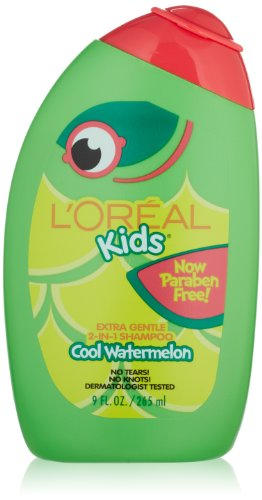 L'Oreal Kids Extra Gentle 2-in-1 Shampoo, Watermelon, 9 fl. oz.