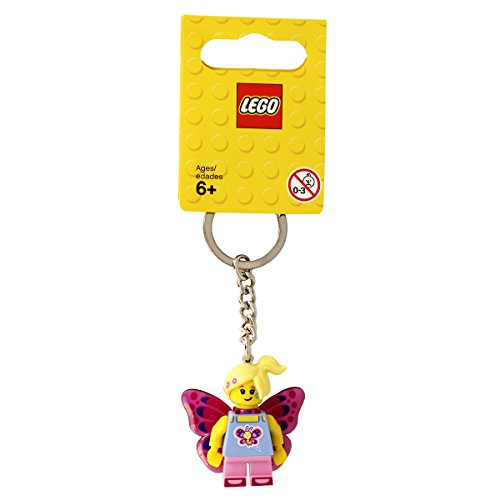LEGO Butterfly Girl Keyring / Keychain - LEGO Brand New with Tags Official Product