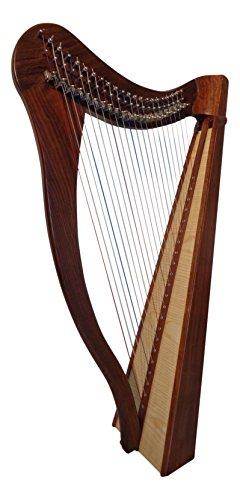 Harfica - Arpa celta irlandesa (22 cuerdas, incluye funda blanda y cuerdas de repuesto)