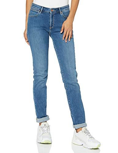 Wrangler Damen Slim Jeans, Blau (Perfect Blue 17P), W29/L32