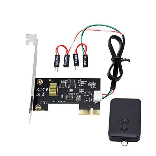 CERRXIAN PCIe Kabelloser Computer-Fernbedienungsschalter, 2,4 G, drahtlose Fernbedienung für Computer, Power/Reset-Schalter