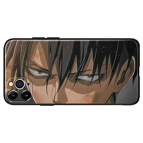 Levi Ackerman Eye Shingeki no Kyojin Anime Attack Titan Japonés Manga Compatible con iPhone iPhone Funda Carcasa Carcasa Carcasa Silicona Mate iPhone 11