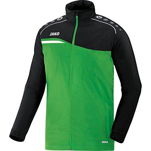 JAKO Herren Allwetterjacke Competition 2.0, Soft Green/schwarz, 164