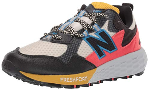 New Balance Women's Fresh Foam Crag Trail V2 Sneaker, Stone/Black/Neo Classic Blue, 8 M US