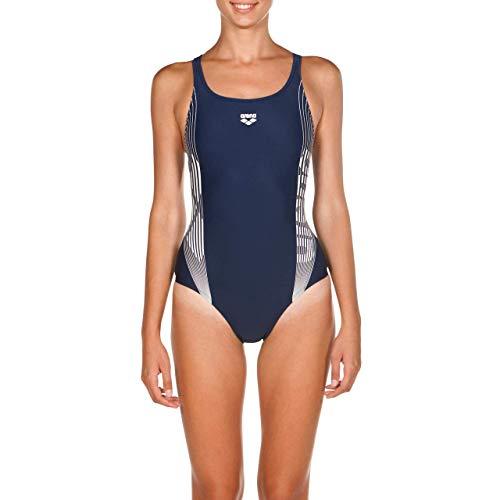 Arena W Twinkle Swim PRO, Costume Sportivo Donna, Blu (Navy/White), 46