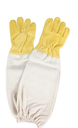 APIFORMES Ziegenleder-Handschuhe (sehr fein) -L für Imker | Imkerei | Stichschutz | Imkereibedarf | Bienen | Baumwolle | Leder |