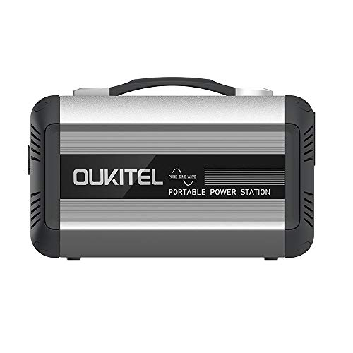 OUKITELポータブル電源 大容量 純正弦波614W 192000mAh/614Wh 家庭用蓄電池 PSE認証済み 家庭アウトドア両用バックアップ電源 小型発電機 液晶画面表示 AC(614W 瞬間最大1000W)/DC/USB/Type-Cなど出力 急