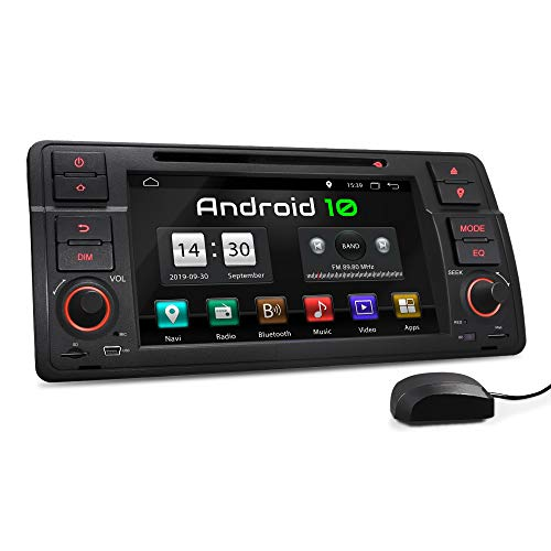 XOMAX XM-70BA Autoradio mit Android 10 passend für 3er BMW, 4Core, 2GB RAM, 32GB ROM, GPS Navigation, DVD, CD I Support: WiFi WLAN, 3G 4G, DAB+, OBD2 I Bluetooth, 7 Zoll / 18 cm Touchscreen, USB, SD