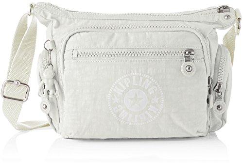 Kipling - Gabbie S, Bolsos bandolera Mujer, Blanco (Lively White), 16.5x29x22 cm (B x H T)