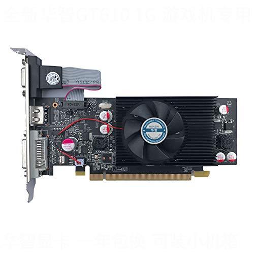Tarjeta gráfica GeForce Chipset Video GT610 1GB DDR2 para PC y Estuche LP
