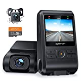 APEMAN Dash Cam, Front and Rear Camera for Cars 1080P, SD Card Included, Support GPS, IPS Screen, Night Vision, 170°Wide Angle, Motion Detection, Loop Recording, G-Sensor, Parking Monitor, WD