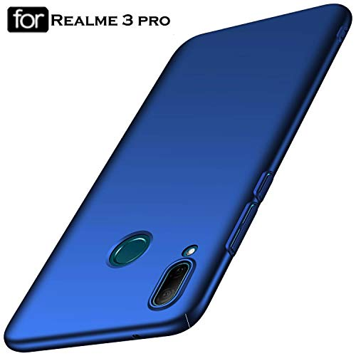 SHINESTAR All Sides Protection 360* Matte Hard Back Case Cover for Realme 3 Pro (Blue, Realme 3 Pro)