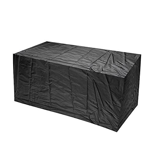 AWSAD Copritavolo Circolare Borsa di Immagazzinaggio all'aperto Anti-UV con Presa d'Aria per Giardino Terrazza Divano da Esterno Due Colori (Color : Nero, Size : 130x80x120cm)