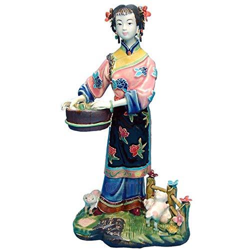 Ga-yinuo Chinesisches antikes Porzellan Schöne Engelsfiguren Modepuppen Skulpturen Weibliche Sammlerstatue Wohnkultur