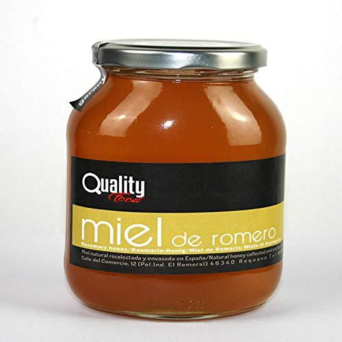Miel pura de abeja 100{300ba9c675bcb8ce5db3ee8efc4e03986d03b6783478fcf85d9d30d9a2f77f3b}. Miel cruda de Romero. 1 Kg. Producida en España. Sin pasteurizar ni calentar. Artesana de alta calidad. Tarro de cristal. Gran variedad de exquisitos sabores.