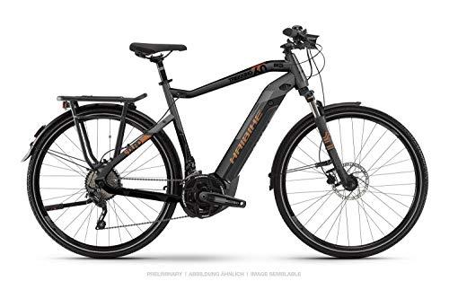 HAIBIKE Sduro Trekking 6.0 Damen Pedelec E-Bike Fahrrad grau/schwarz/bronzefarben 2019: Größe: M
