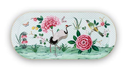 Pip Studio Tortenteller rechteckig Blushing Birds | weiss - 33,3 x 15,5 cm