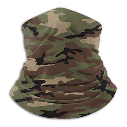 XXUU Dunkelgrüne Camo Terrain Army Camouflage Kostüm Hals Warmer Schal Outdoor Wiederverwendbare Gesichtscovere Bandana
