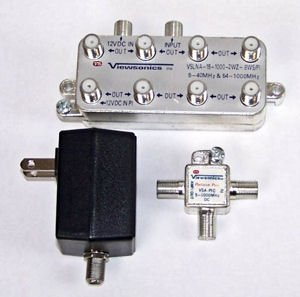 Viewsonics 8-Port Passive Return Signal Amplfier To Split OTA Antennas To Multiple Devices