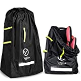 Durable Car Seat Travel Bag & Durable Stroller Bag for Airplane –– Ideal Gate Check Bag for Air Travel & Saving Money –– for Safe & Secure Car Seat and Double/Dual Stroller.