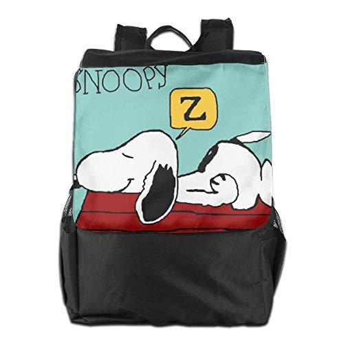 41d67OmgAAL - Snoopy Mochila de viaje para dormir ligera de poliéster para hombres y mujeres