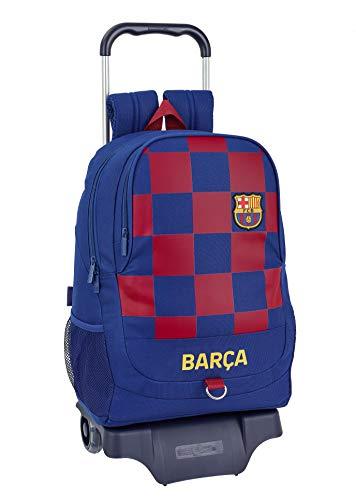 Mochila Escolar de FC Barcelona 1ª Equip. 19/20 Oficial con Carro 330x150x430mm