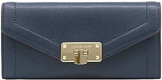 Michael Kors Women's Kinsley Carryall, Leather Flip Wallet - Navy