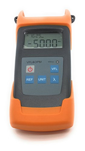 Premium Handheld Optical Power Meter with 10mW Visual Fault Locator & Fiber Optic Light Cable Tester. -50 to +26dBm. Includes English Instructions