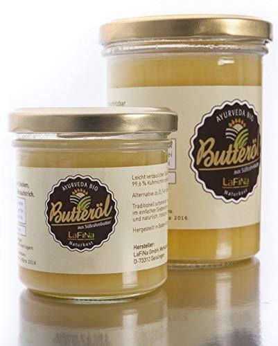 100% Bio Ayurveda Ghee | Butterschmalz | Butteröl. Ein altbewährtes Lebenselixier zur vielseitigen Verwendung für Küche und Kosmetik im Glas, Premium Qualität (330g)