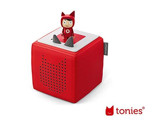 tonies Toniebox Starterset Rot für Kinder inkl. Kreativtonie, Ladestation und Bedienungsanleitung