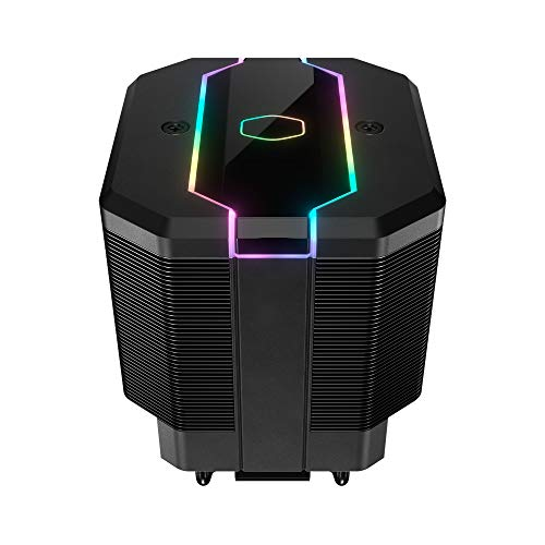 Cooler Master MasterAir MA620M Dual Tower ARGB High Performance CPU Air Cooler, SF120R Fan, Hexagon Strip ARGB Lighting, 6 Heat Pipes, Copper Plated Base for AMD Ryzen/Intel LGA1151