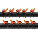 OTOTEC 10x Haken für Angelrute Kunststoff Haken Keeper Fischruten Zubehör orange