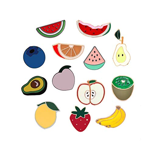 ZSCZQ Fresh Fruits Kpop Broches Hijab Pins Female Accessories Cute Various Fuirt Scarf Clothes Lapel Pin Bag Icon Button Badge Jewelry Lemon