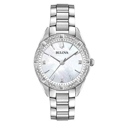 Bulova 96R228 Orologio da donna con diamanti e madreperla