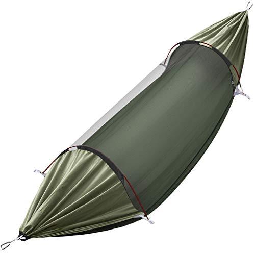 Balançoire Swing Hammock portable extérieur avec tente de couverture nette Anti-Rollover Camping Home Home Jardin d'intérieur et extérieur Chaise suspendue Swing 114.1x57 pouces Siege Suspendu