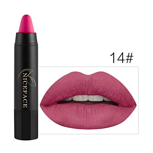 Ouneed lipstick ,Ladies Beauty Makeup Waterproof Pen Hydrating Long Lasting Lip Gloss Pen (B)