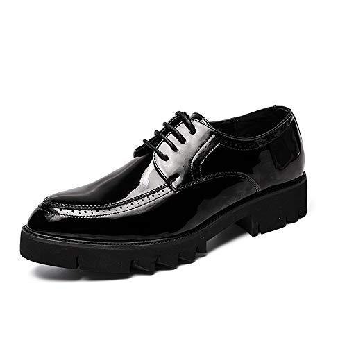 Heren Classic Honorable Oxfords mannen mode schoenen Oxford schoenen dikke anti-slip openingen tie casual low-cut riem buitenzool lakleer formele schoenen Retro Temperament Oxfords Voor Heren